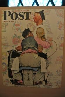 Reproduction de la couverture du Saturday Evening Post, Etats Unis, 4 mars 1944. Norman Rockwell